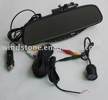 Bluetooth stereo handsfree car kit 3.5 inch Monitor&reverse sensor with camera &video parking sensor