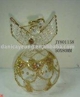 GOLD GLITTER GLASS ANGELS
