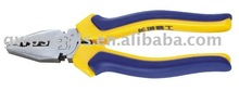 European style fully polished combination pliers with 2-color plastic handle