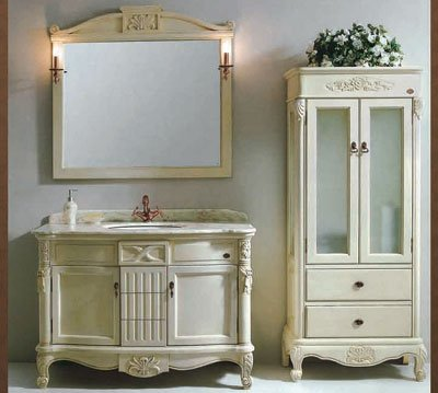 Antique Vanity On Image American Standard Bathroom With Side Cabinet