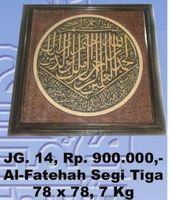 Alfateha Segitiga Calligraphy carving