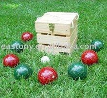 Pista de petanca et-751008 conjunto, boccia, bocce, petanca, lanzamiento conjunto de juegos, deportes al aire libre conjunto