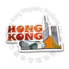 Hong Kong view Embossed Magnet