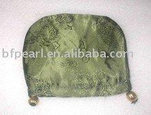 Schmucksache-Entdeckungen, helle Schattierung des olivgrünen Grüns sticken Nylontuchbeutel (110mm)