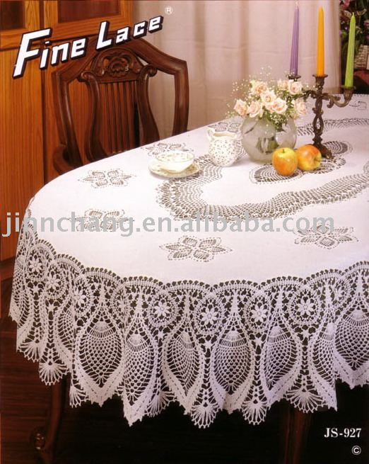 Pattern for Large Oval Lace Tablecloth, Crochet - KnittingHelp.com