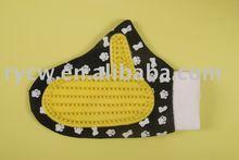pet glove massage/pet grooming glove