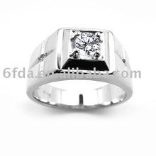 925 sterling silver zircon men ring