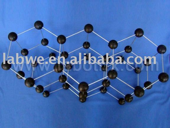Grafito estructura molecular modelo