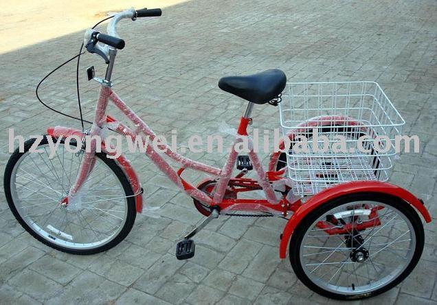 """24"""", triciclo de tres ruedas de bicicleta"""