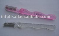 Mascara comb, metal mascara comb,eyebrow comb