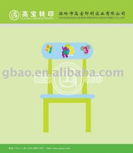 Hot transfer film for chairs