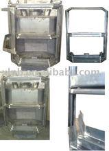 indoor metal fireplace, steel stove of welding, metal fireplace frame