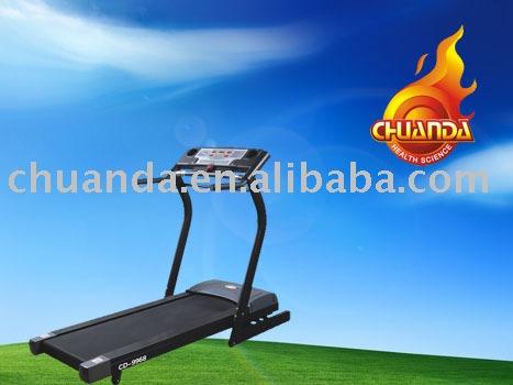 on woman treadmill