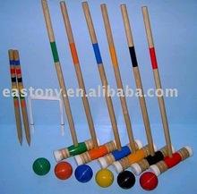Wooden Croquet Set,Croquet Mallet Set,Gateball Stick
