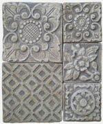 Burnt Umber ceramic tiles