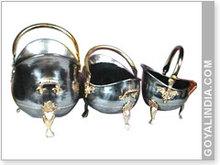 Coal Bucket, 3 Pcs Coal Basket Set