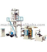 film blowing machine and printing machine in line