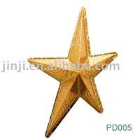 Plastic decorative Golden five pointde star