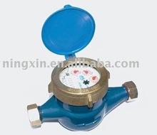 Dry rotary vane wheel hot water meter