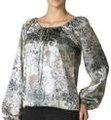 Feminina floral gypsy blusa