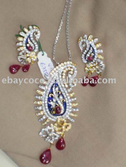 kundan jewelry kundan necklace indian jewelry new - kUndAN jeWlarY