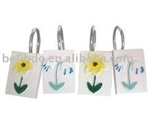Poly Shower Hooks,square hooks, flower hooks(BL-01215)