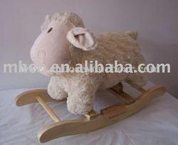 plush and stuffed cartoon animal rocking toys