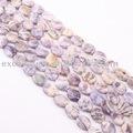 Viola fiore di pietra, semi- pietra preziosa perline, semi- pietra preziosa perline