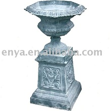 Cast Iron Flower pot, Planter with base, Garden decoration/ornament
