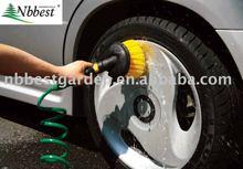 washing car water flow brush