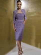 Two-piece knee length prom dress