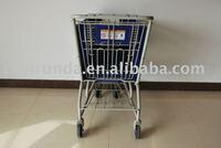 180L Plastic Shopping Cart, Plastic Shopping Trolley, Supermarket Shopping Cart, Shopping Cart.