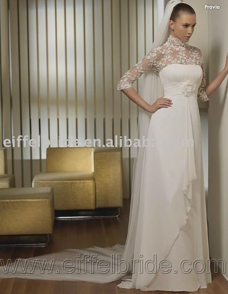 3419 new 09 style wedding dress petite long sleeve wedding dresses