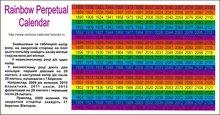 Rainbow Perpetual Calendar