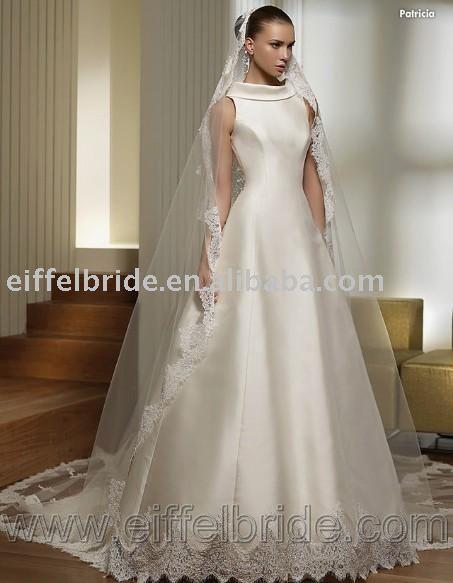3439 new 09 style wedding dress petite long sleeve wedding dresses