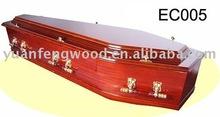 EC005 coffin ornament European-style wooden coffin