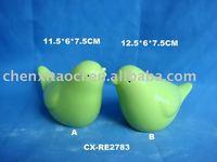 Lively ceramic bird figurine, home decoration -color glazed porcelain bird-pottery bird