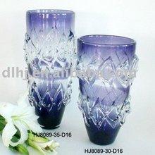 Murano Art Glass Vase in Violet