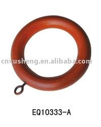 EQ10133-A wood curtain ring,wood curtain head ending