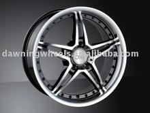 5 spoke aluminium wheels