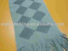 Acrílico impreso de punto de ganchillo de la bufanda, Mantón, A cuadros, Manta