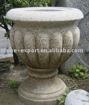 G682 granito maceta olla de piedra de piedra del jard n - Macetas de piedra para jardin ...