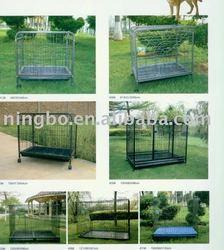 Stronge Large iron dog cage / pet cage with wheel