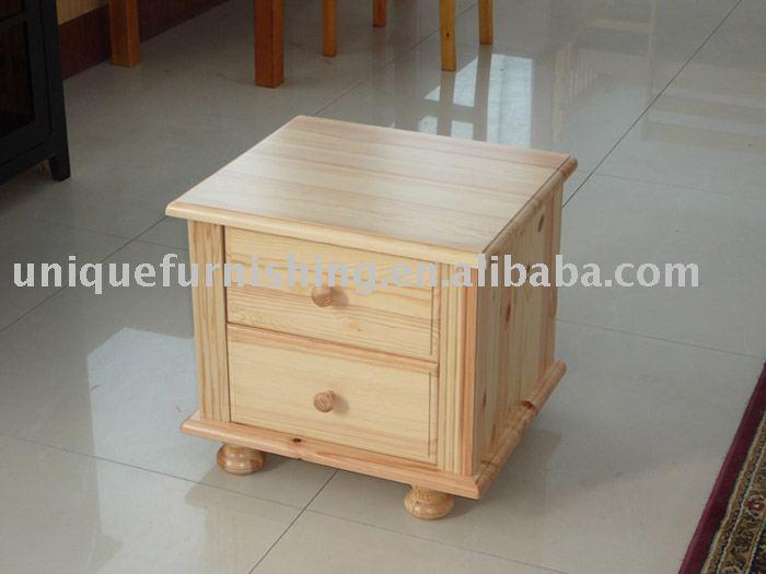 2 tiroirs bois de pin table de nuit tables de chevet id du produit 235180374 - Table de nuit en pin ...