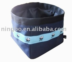 Dog portable foldable travel / traveling water & food bowl