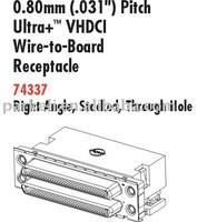 Molex of Pitch Ultra+ VHDCI Write-to-Board Receptacle 74337