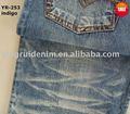 100% la gata del algodón tela de jean; tela de algodón; laindustria textil