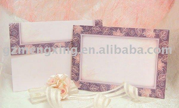 beautiful chic paper wedding invitation cards wdding decorations
