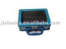 clear lid gift box, pvc window, plastic handle