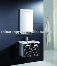stainless steel flower finished bathroom cabinet